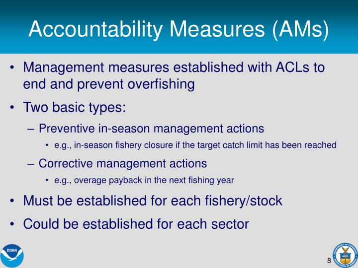 Accountability Measures (AMs)