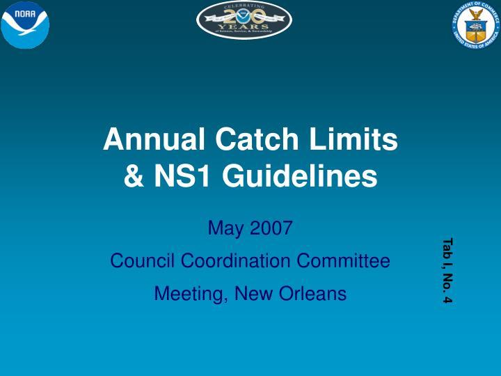 Annual Catch Limits