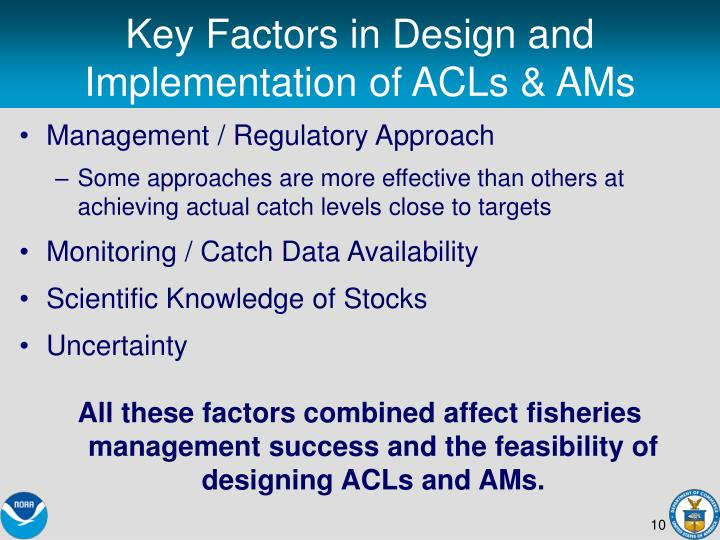 Key Factors in Design and Implementation of ACLs & AMs