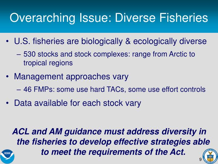 Overarching Issue: Diverse Fisheries