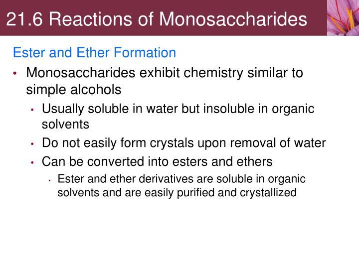 21.6 Reactions of Monosaccharides