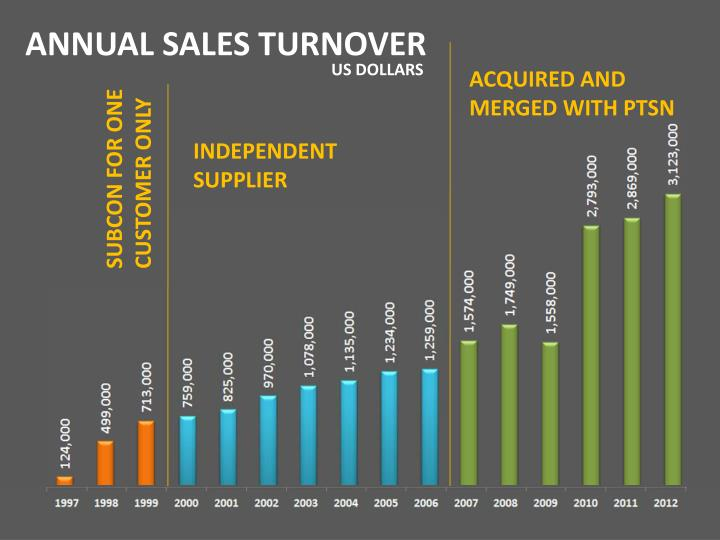 ANNUAL SALES TURNOVER