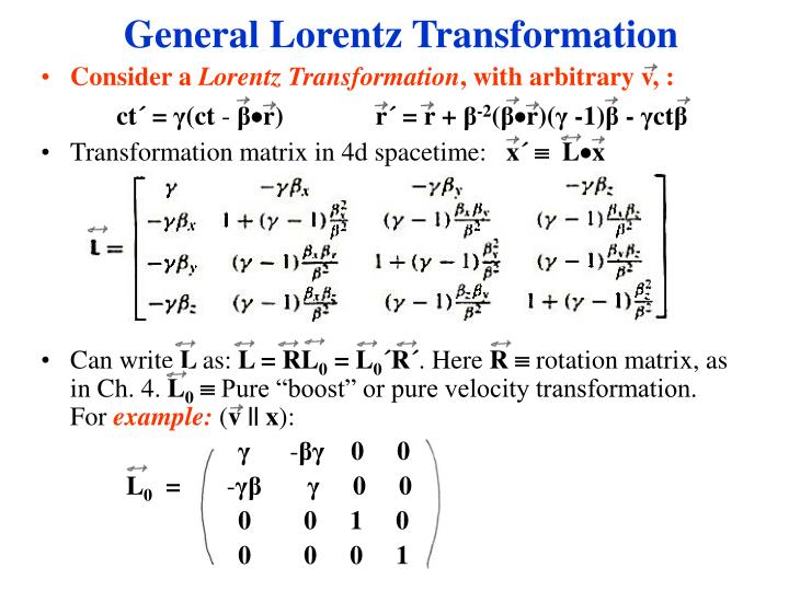 General Lorentz Transformation