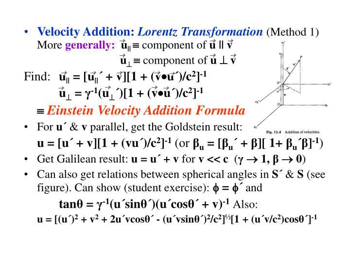 Velocity Addition: