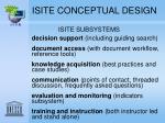 isite conceptual design