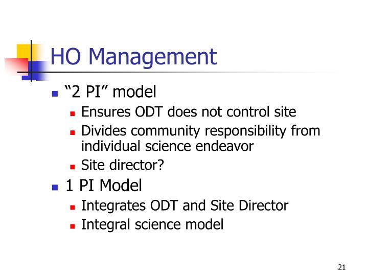 HO Management
