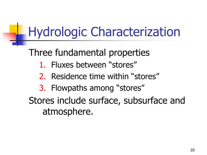 Hydrologic Characterization