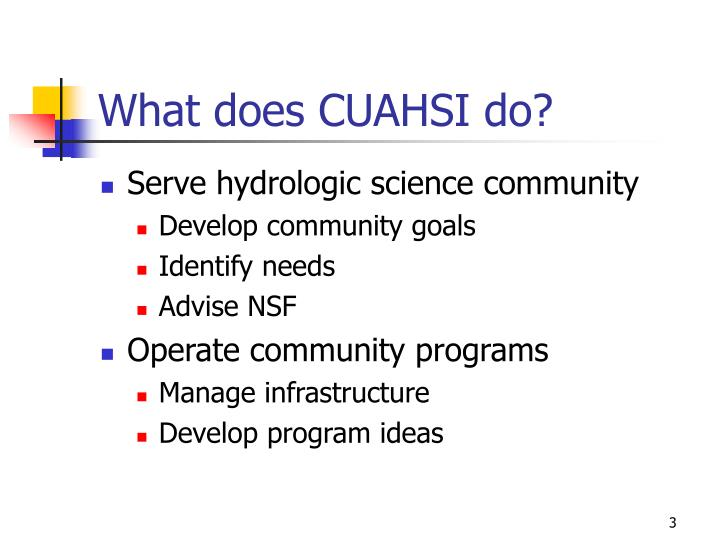 What does CUAHSI do?
