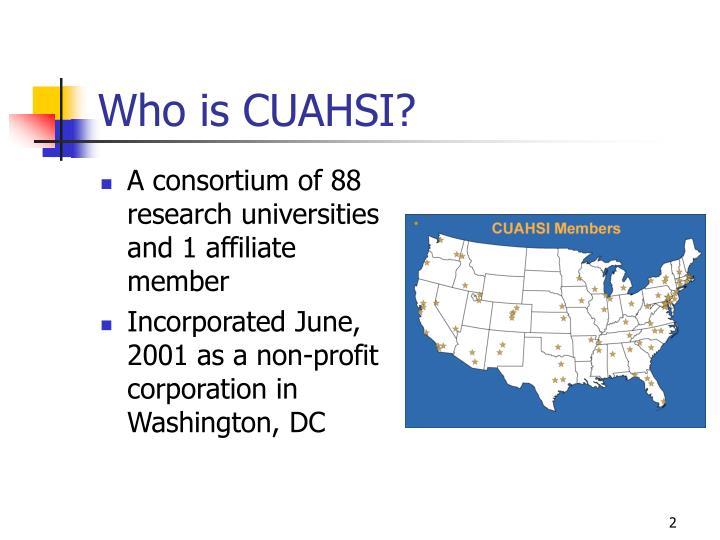 Who is CUAHSI?