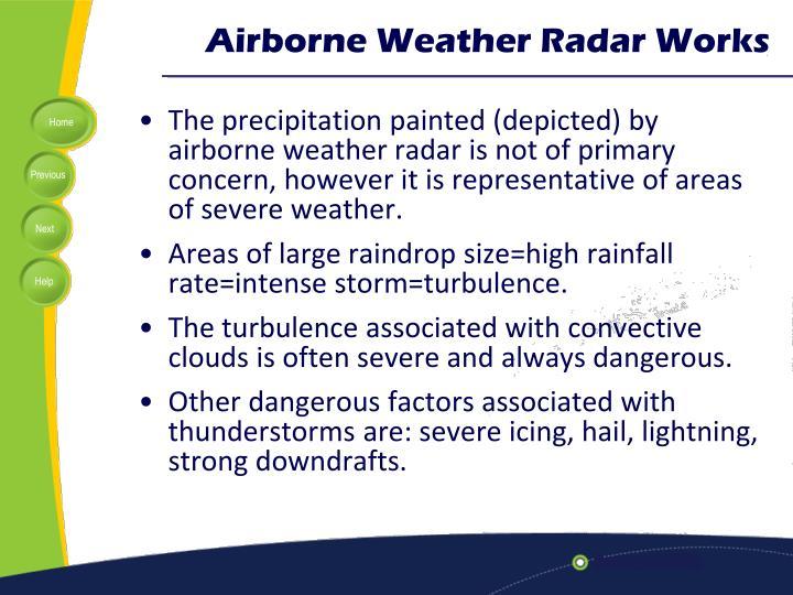 Airborne Weather Radar Works