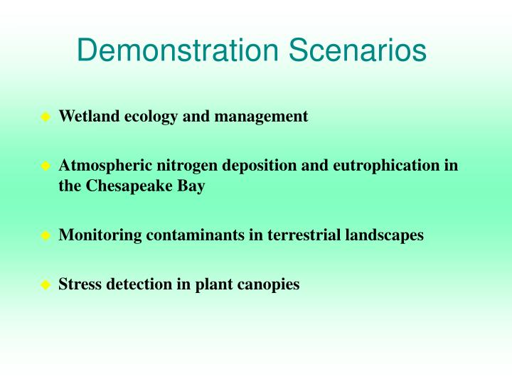 Demonstration Scenarios