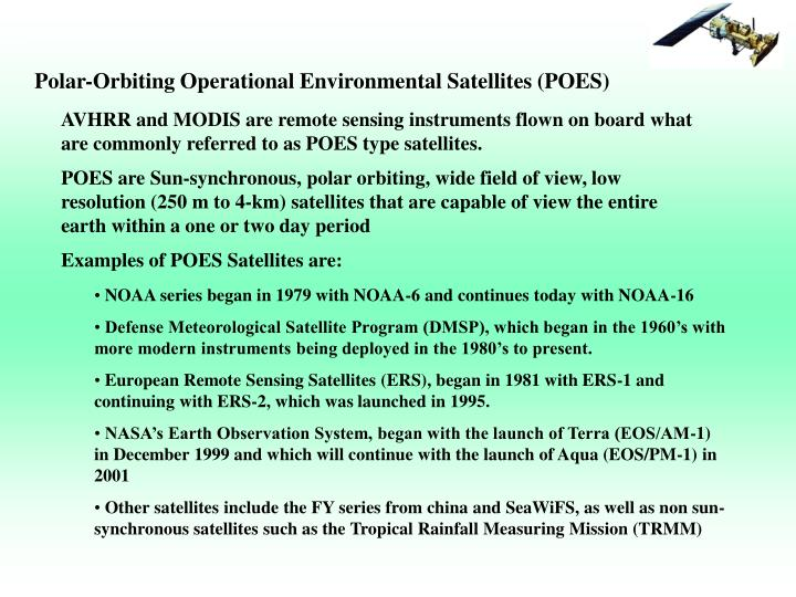 Polar-Orbiting Operational Environmental Satellites (POES)