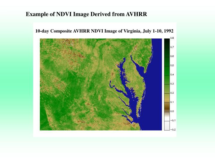 Example of NDVI Image Derived from AVHRR