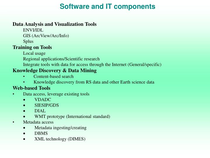 Software and IT components