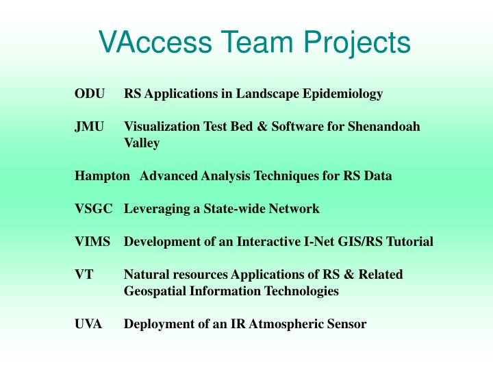 VAccess Team Projects