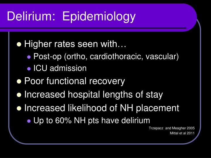 Delirium:  Epidemiology