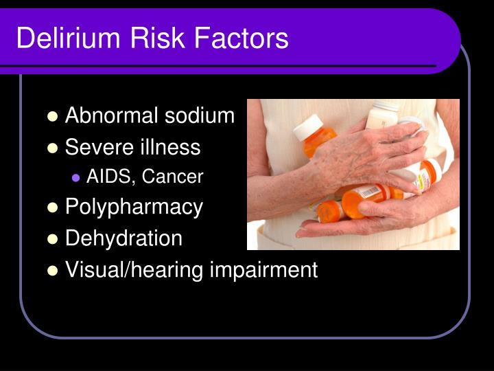 Delirium Risk Factors