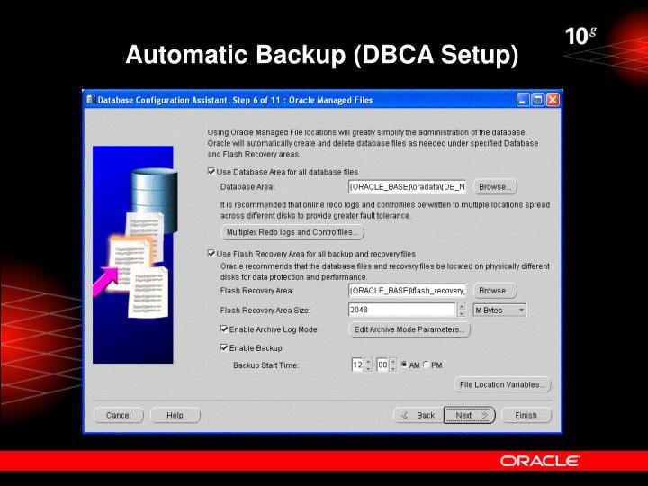 Automatic Backup (DBCA Setup)