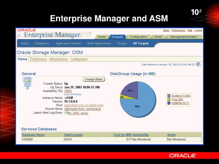 Enterprise Manager and ASM