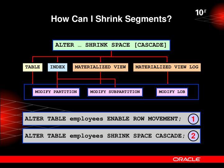 How Can I Shrink Segments?