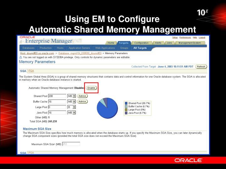 Using EM to Configure