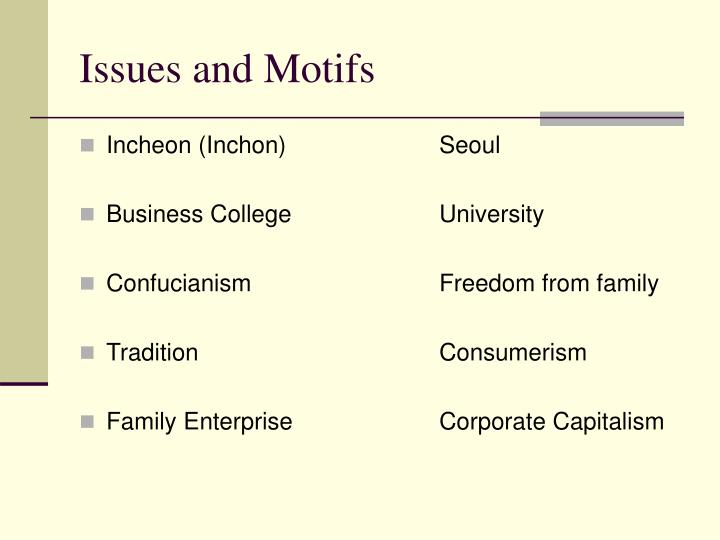Issues and Motifs