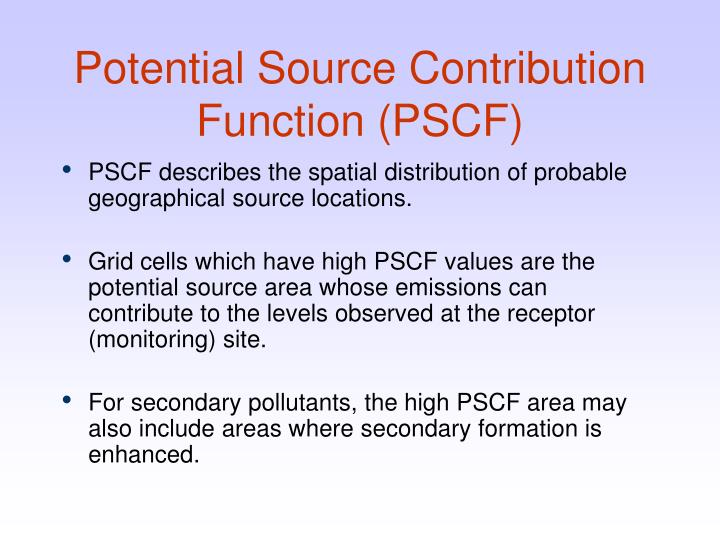 Potential Source Contribution Function (PSCF)