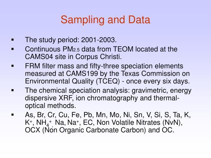 Sampling and Data