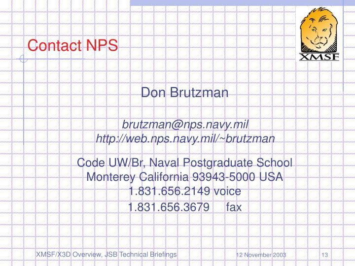 Contact NPS