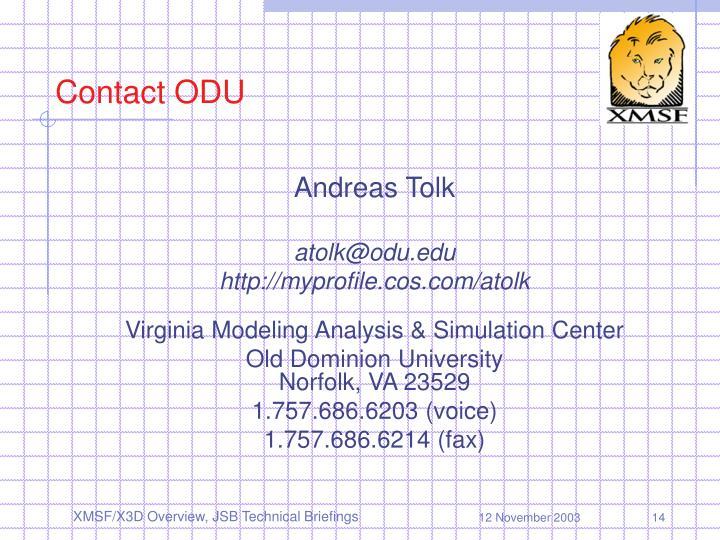 Contact ODU