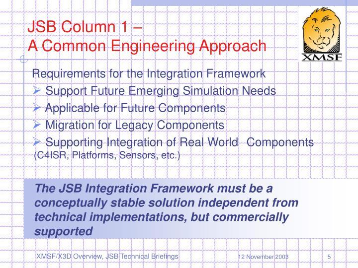 JSB Column 1 –