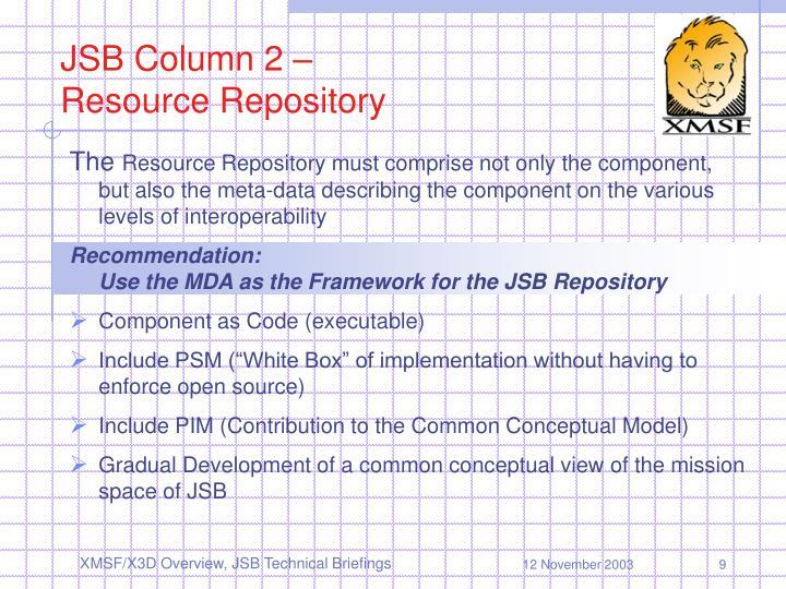 JSB Column 2 –