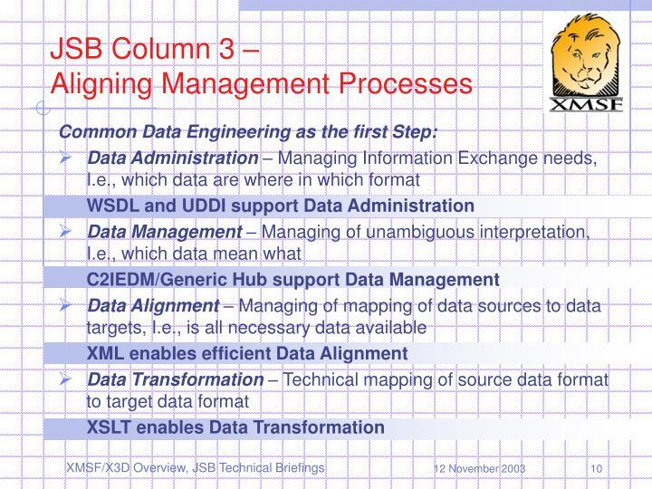 JSB Column 3 –