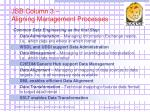 jsb column 3 aligning management processes
