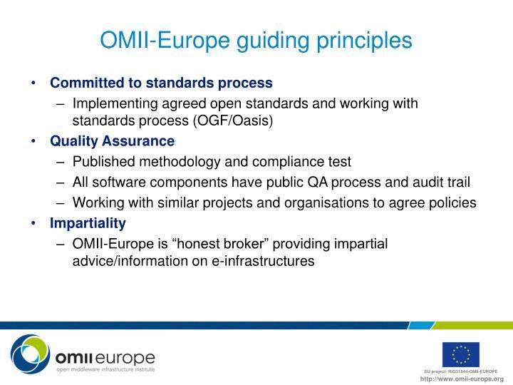 OMII-Europe guiding principles