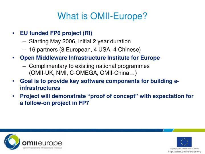 What is OMII-Europe?