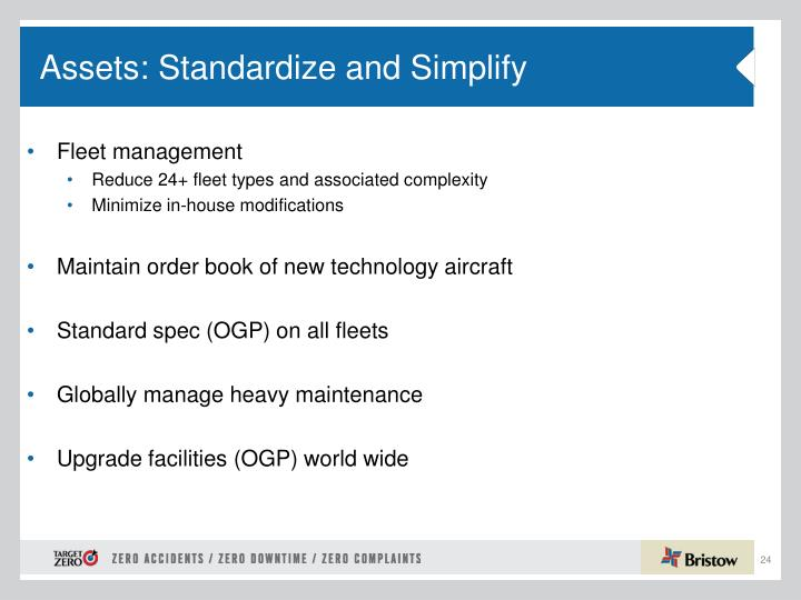 Assets: Standardize and Simplify
