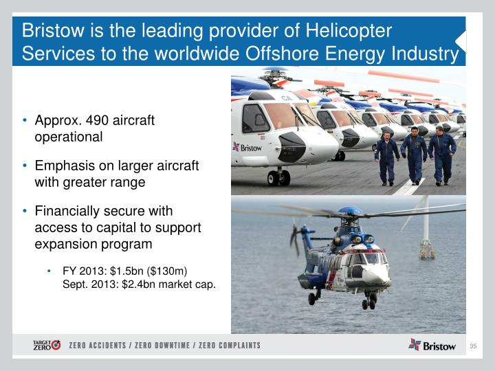 Bristow is the leading provider of Helicopter