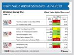 client value added scorecard june 2013