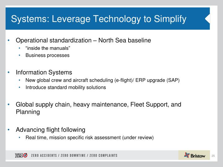 Systems: Leverage Technology to Simplify