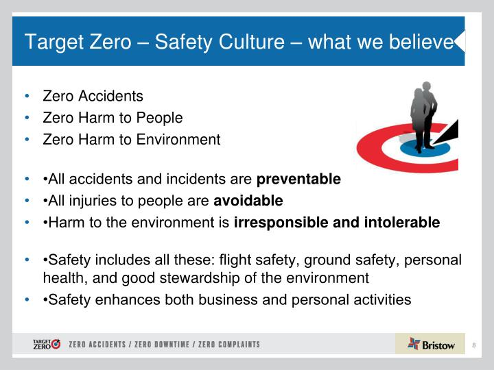 Target Zero – Safety Culture – what we believe