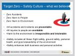 target zero safety culture what we believe