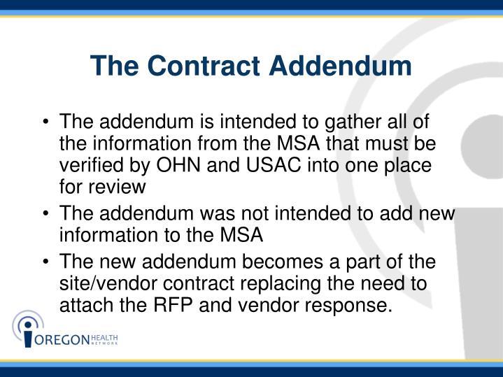 The Contract Addendum