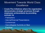 movement towards world class excellence2