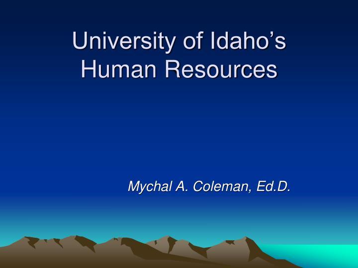 university of idaho s human resources