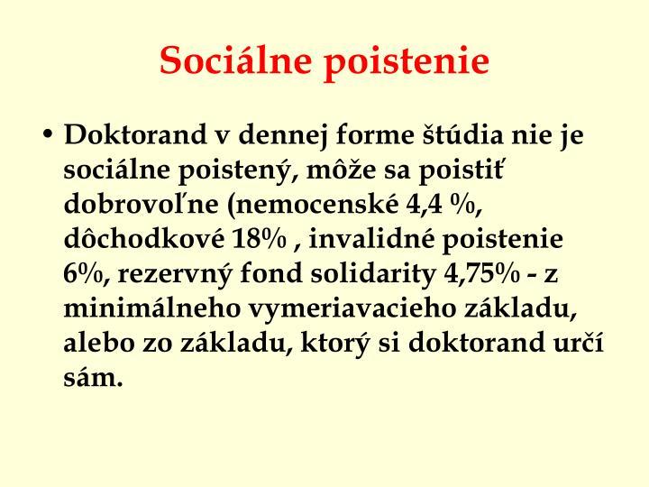 Sociálne poistenie