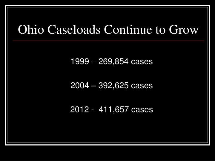 Ohio Caseloads Continue to Grow