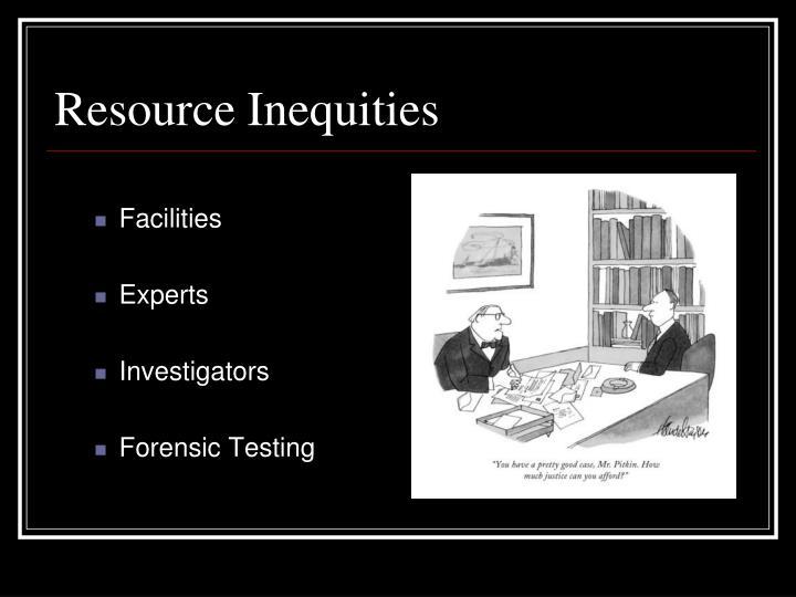 Resource Inequities