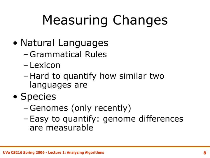 Measuring Changes