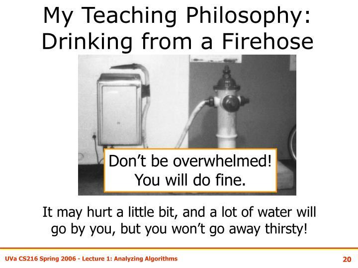 My Teaching Philosophy: